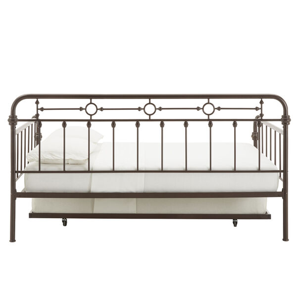 Elliot Antique Dark Bronze Metal Full Daybed with Trundle Bed, image 6